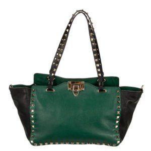 LIKE NEW Valentino Mini Rockstud Tote Green